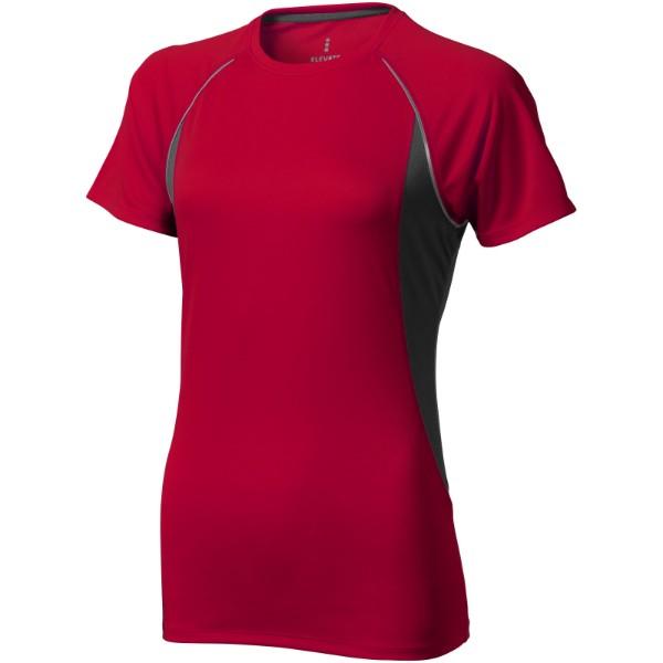 Dámské Tričko Quebec s krátkým rukávem, cool fit - Bílá / Anthracitová / XXL