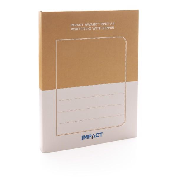 Carpeta Impact AWARE ™ RPET A4 con cremallera - Negro