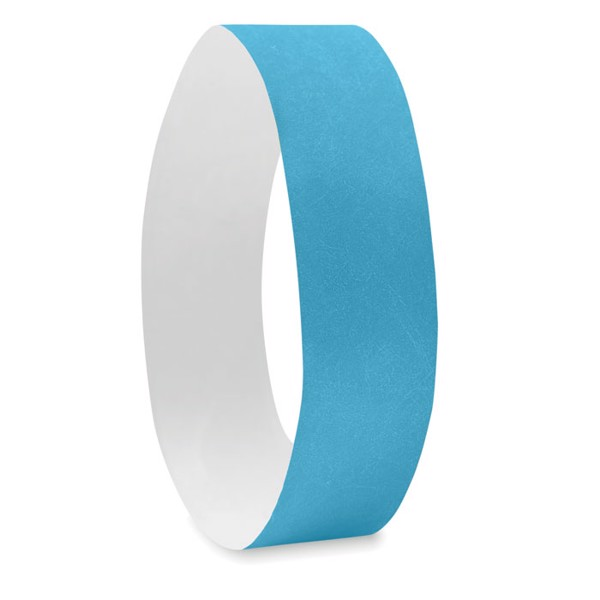 One sheet of 10 wristbands Tyvek - Turquoise