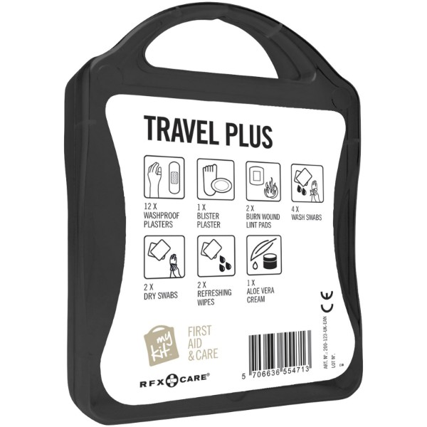 MyKit Travel Plus First Aid Kit - Solid Black