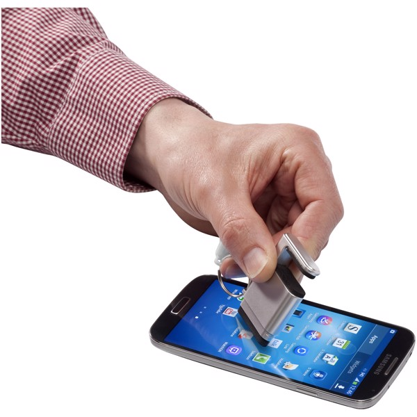 Gogo screen cleaner and smartphone holder - Silver / White