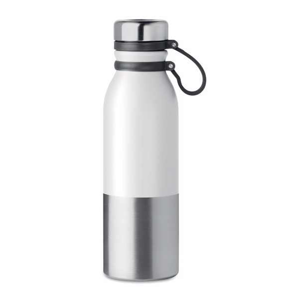 600ml double wall bottle Iceland - White