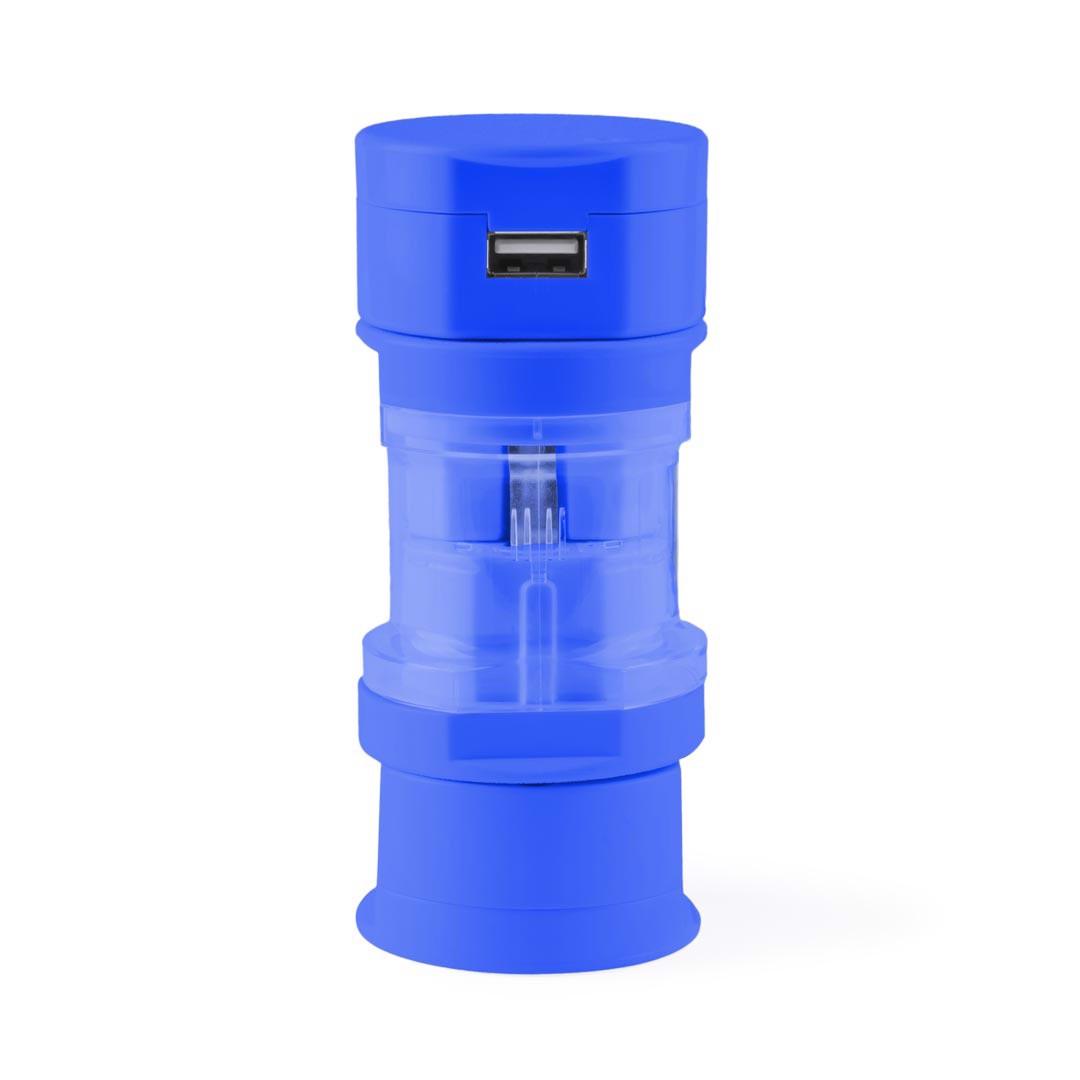Adaptador Enchufes Tribox - Azul