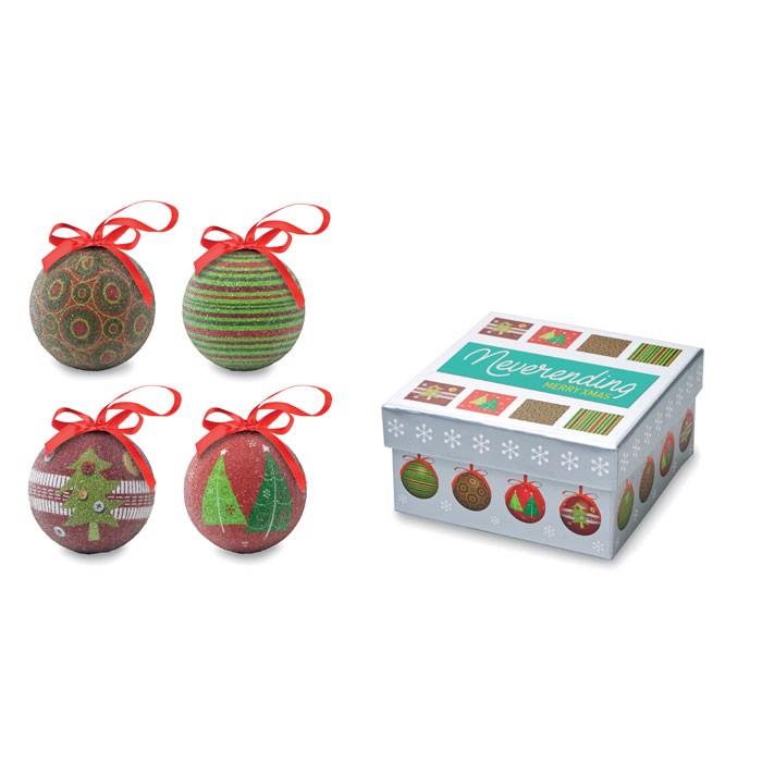 Komplet božičnih okraskov Squary