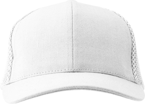 100% cotton twill cap - White
