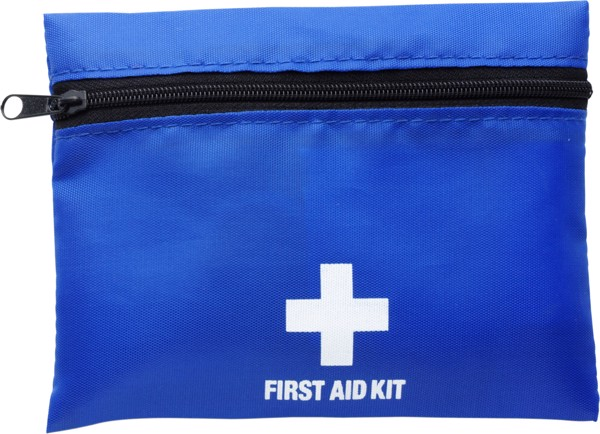 Nylon (210D) first aid kit - Cobalt Blue