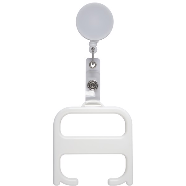 Hygiene handle with roller clip - White