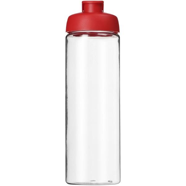 H2O Vibe 850 ml sportovní lahev s vyklápěcím víčkem - Průhledná / Červená s efektem námrazy
