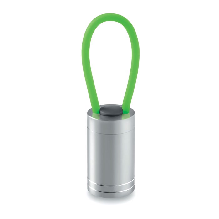 Aluminium torch glow in dark Glow Torch - Green