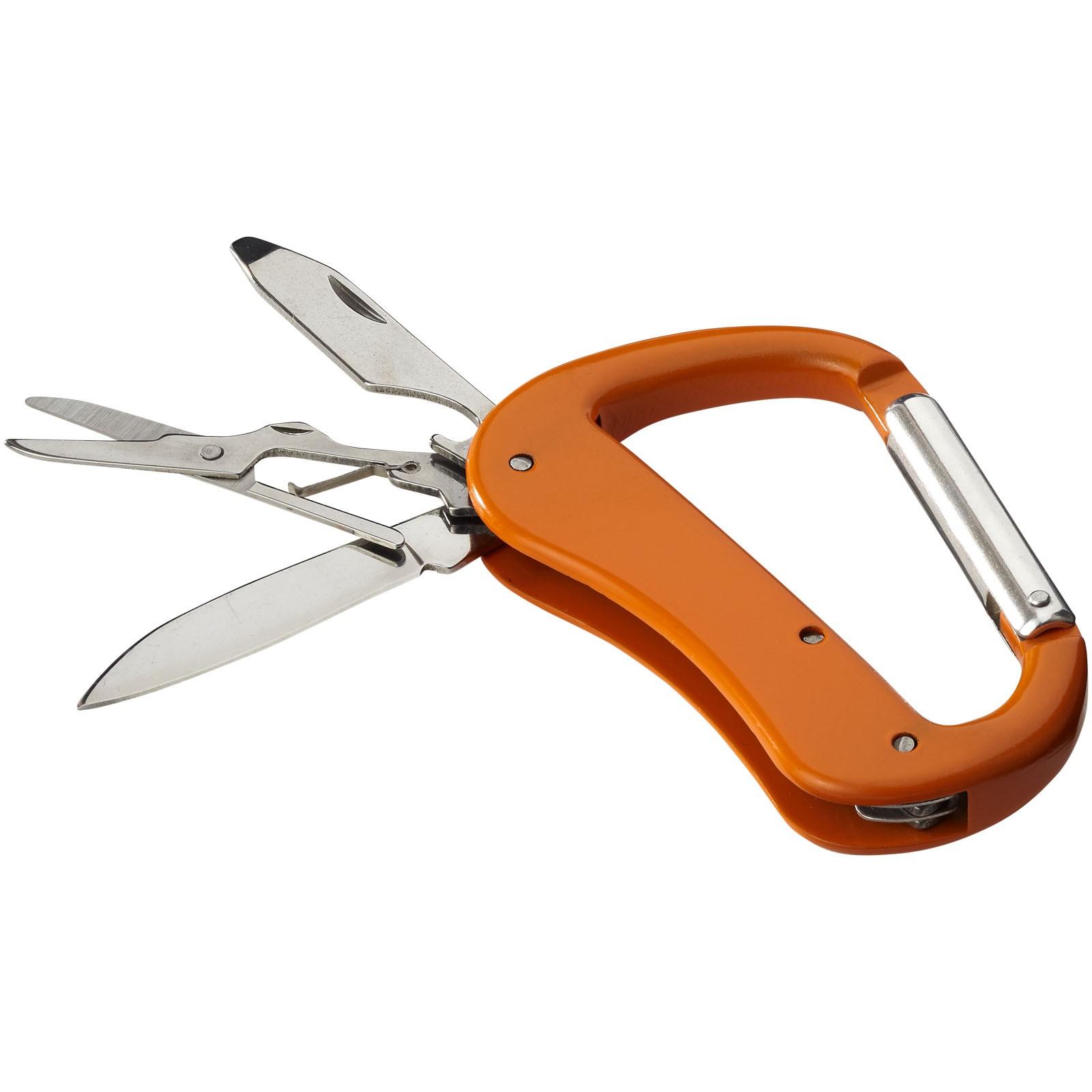 Nůž Canyon s karabinou a 5 funkcemi - 0ranžová