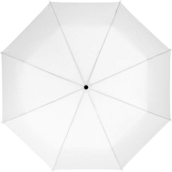 "Wali 21"" Automatik Kompaktregenschirm - Weiss"