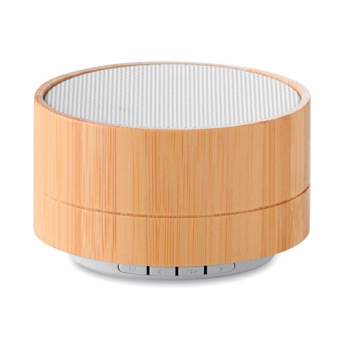 3W Bamboo wireless speaker Sound Bamboo - White