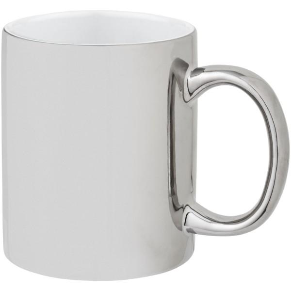 Gleam 350 ml Keramikbecher - Silber