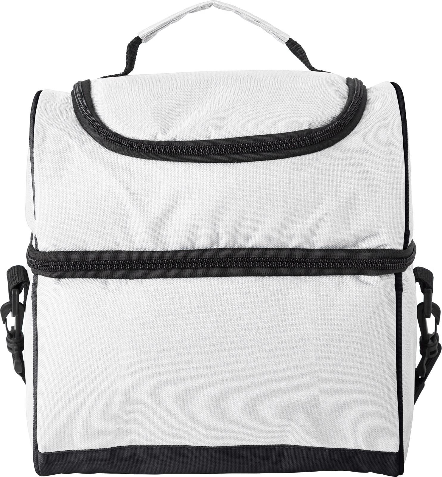 Polyester (600D) cooler bag - White