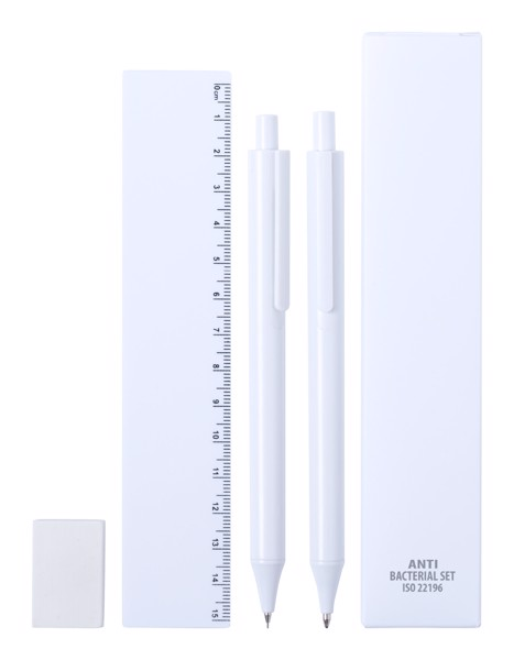 Antibacterial Stationery Set Riply - White