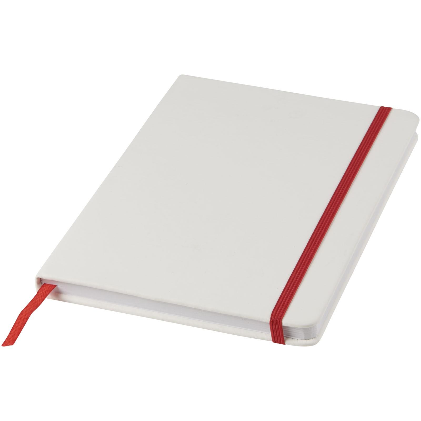 Bílý zápisník Spectrum A5 s barevnou páskou - Bílá / Červená s efektem námrazy