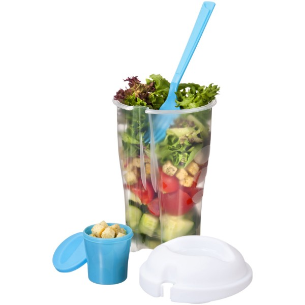 Shakey salad container set - Blue / Transparent