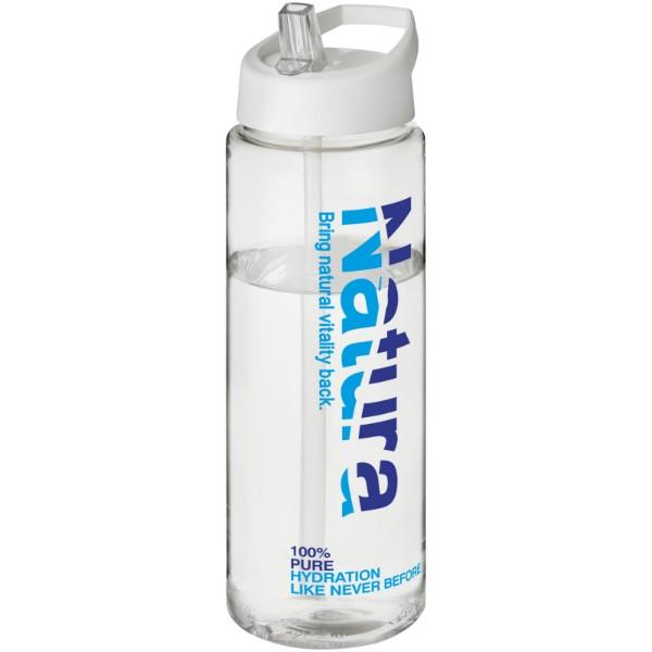 H2O Vibe 850 ml spout lid sport bottle - Transparent / White