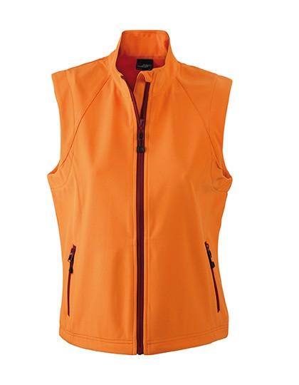 Ladies` Softshell Vest - Orange / L