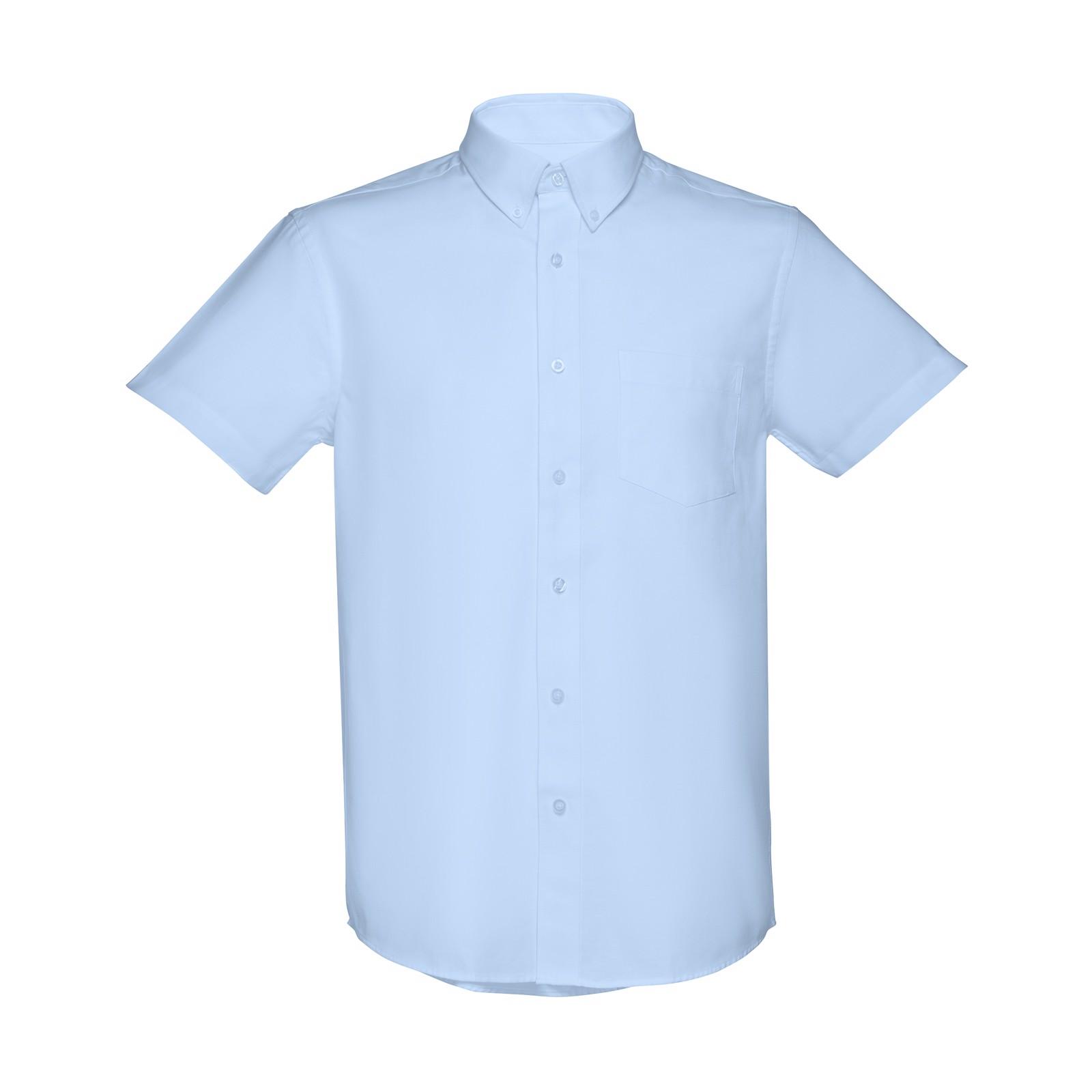 LONDON. Ανδρικό πουκάμισο oxford - Γαλάζιο / XL