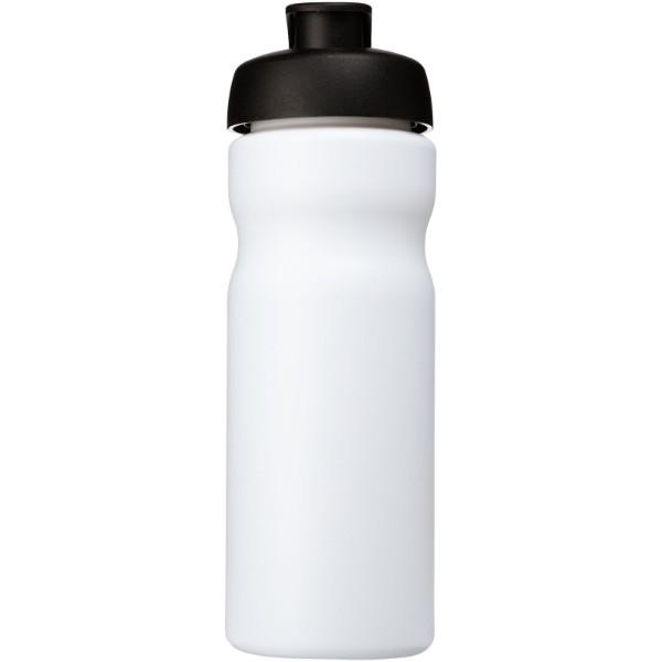 Sportovní láhev s vyklápěcím víčkem Baseline® Plus 650 ml - Bílá / Černá