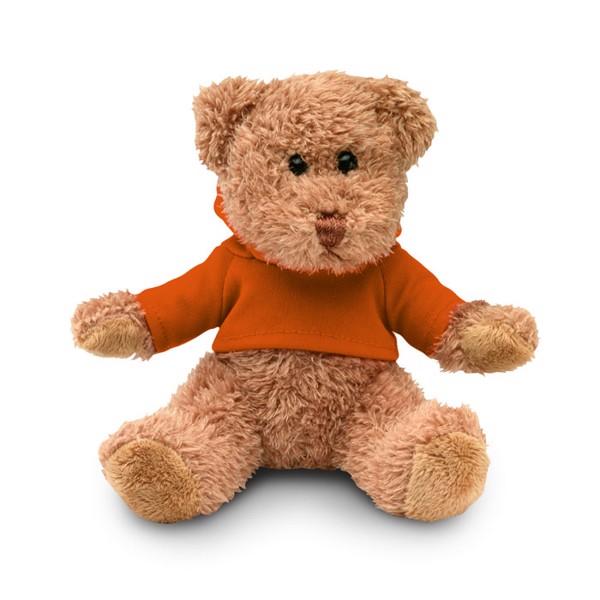 Teddy bear plus with hoodie Johnny - Orange
