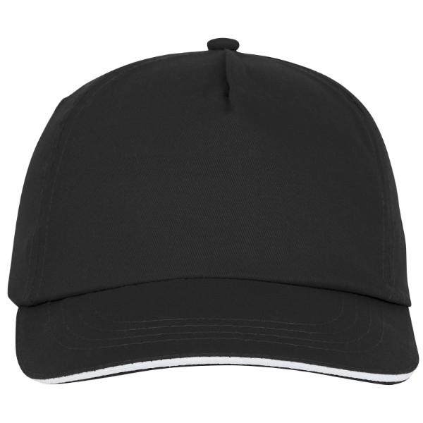Styx 5 panel sandwich cap - Solid black