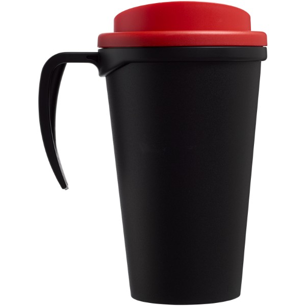 Termo hrnek Americano® grande 350 ml - Černá / Červená s efektem námrazy