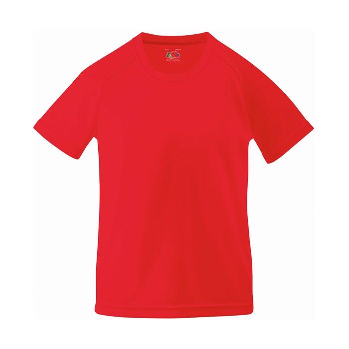 Kids T-Shirt Sports Kids Performance 61-013-0 - Red / M