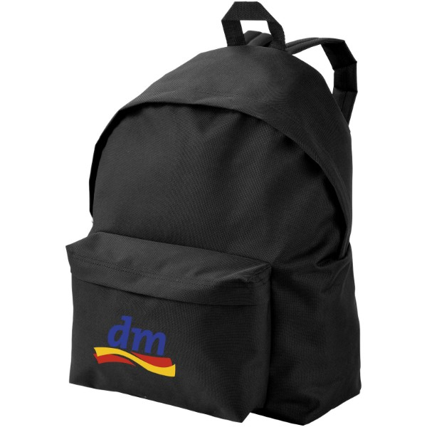 Urban covered zipper backpack - Solid black