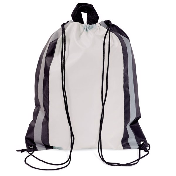 Reflective drawstring bag Glitterbag - White