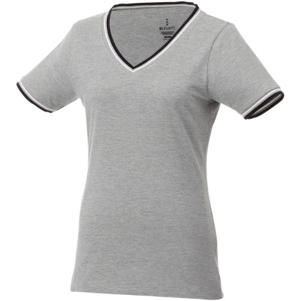 Elbert dámské pique tričko s krátkým rukávem - Bílá / Navy / Červená s efektem námrazy / XS