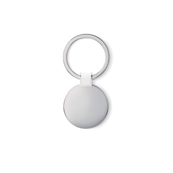 Round shaped key ring Roundy - White