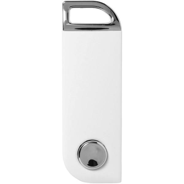 Otočné obdélníkové USB - Bílá / 1GB