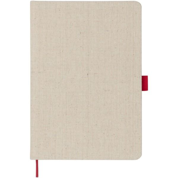 Zápisník s látkou A5 Luna - Červená s efektem námrazy