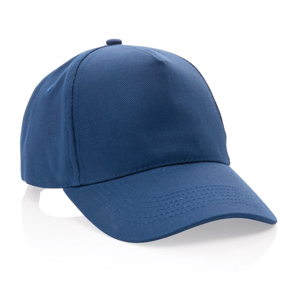 Impact 5panel 280gr Recycled cotton cap with AWARE™ tracer - Navy