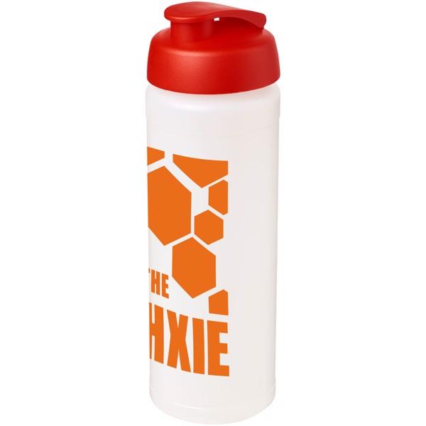 Sportovní láhev s vyklápěcím víčkem Baseline® Plus grip 750 ml - Průhledná / Červená s efektem námrazy