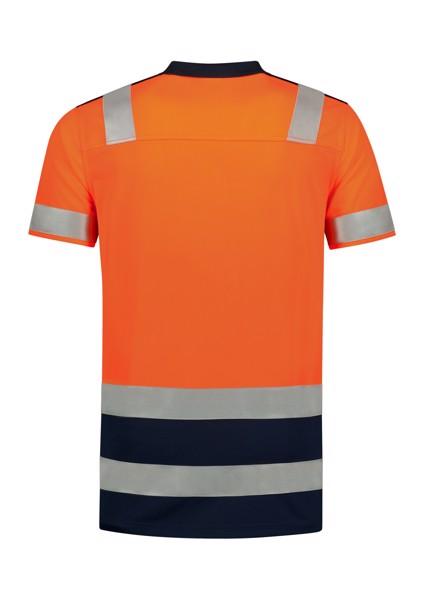 Polokošile unisex Tricorp Poloshirt High Vis Bicolor - Fluorescenční Oranžová / 2XL
