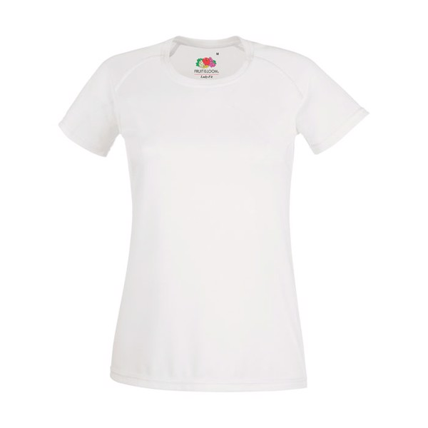 Ladies T-Shirt Sports Lady-Fit Performance 61-392-0 - White / S