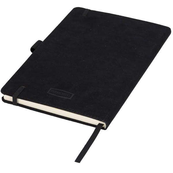 A5 semišový zápisník Carbony - Černá