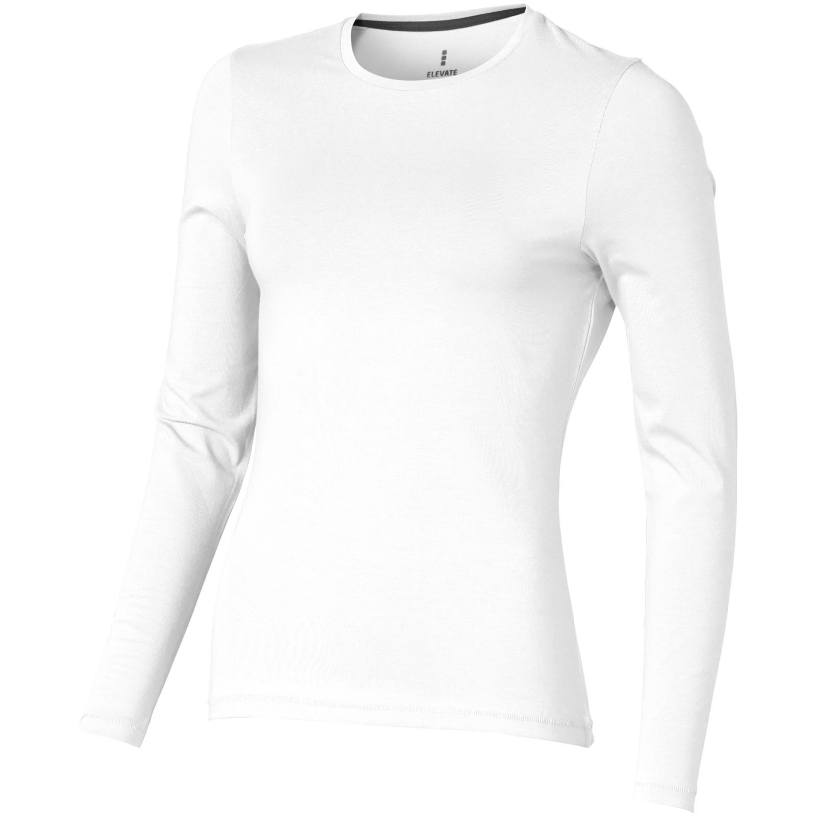 Ponoka long sleeve women's GOTS organic t-shirt - White / XS