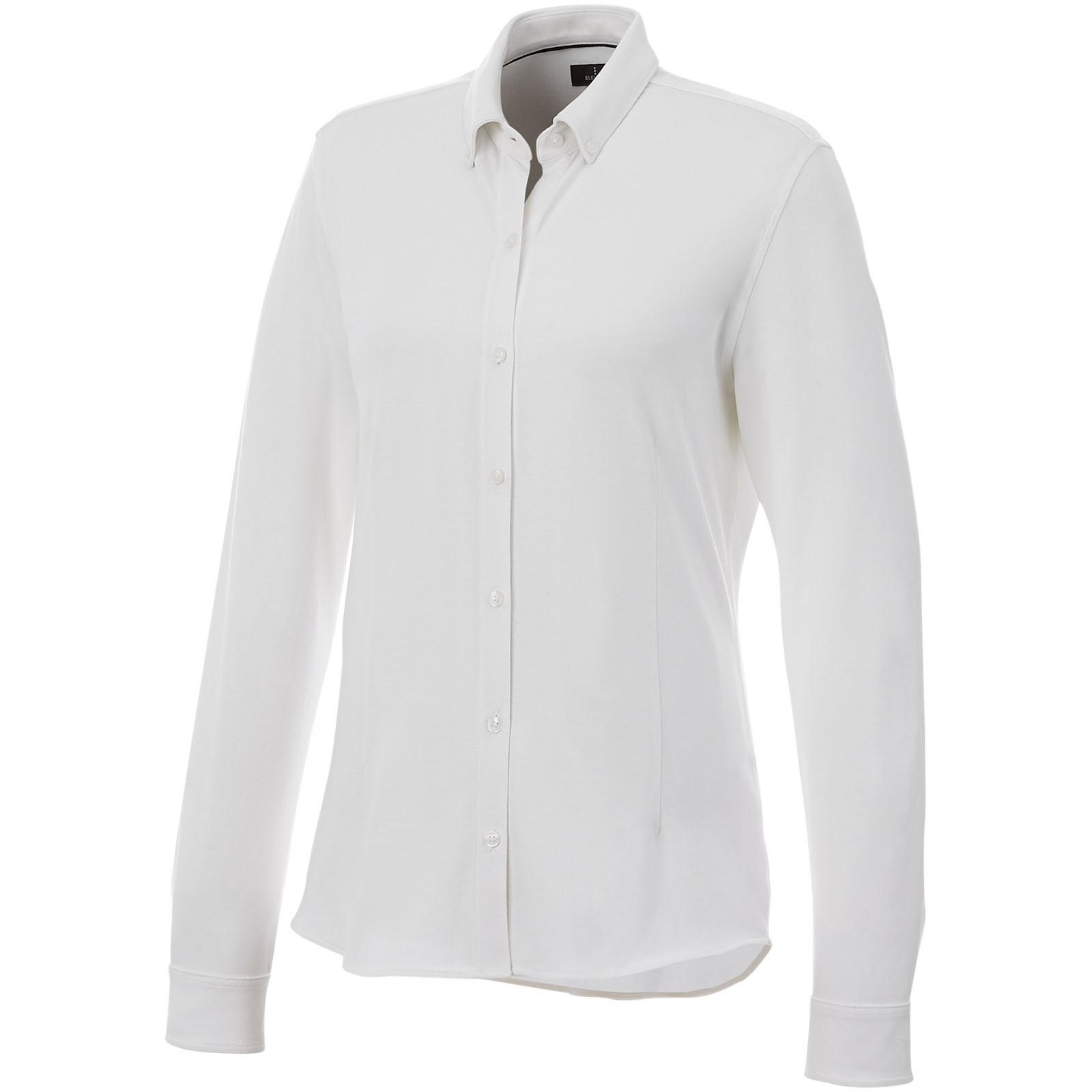 Bigelow long sleeve women's pique shirt - White / XXL