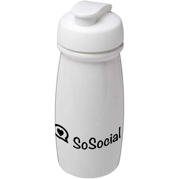 Sportovní láhev s vyklápěcím víčkem H2O Pulse® 600 ml - Bílá