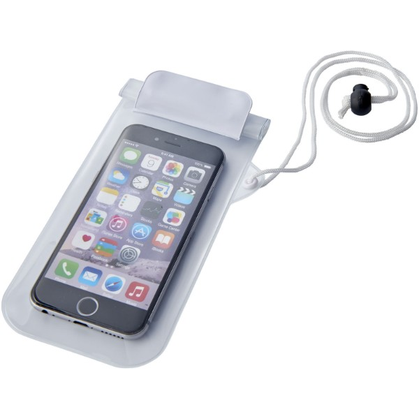 Mambo waterproof smartphone storage pouch - White