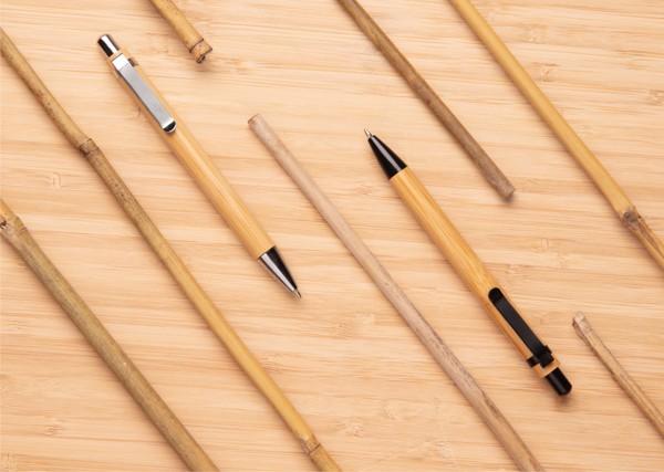 Stylo à bille en bambou - Noir
