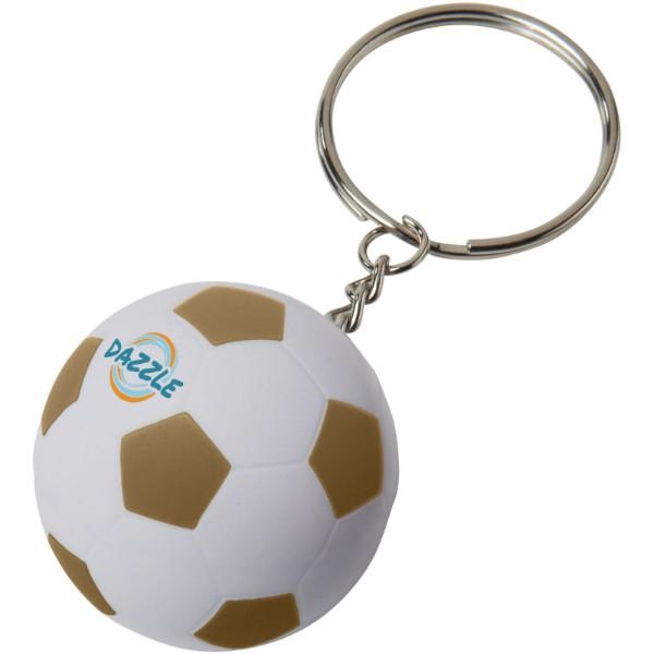 Fotbalový přívěsek na klíče Striker - Zlatá / Bílá