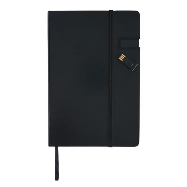 Adat jegyzetfüzet 4GB-os USB-vel - Fekete