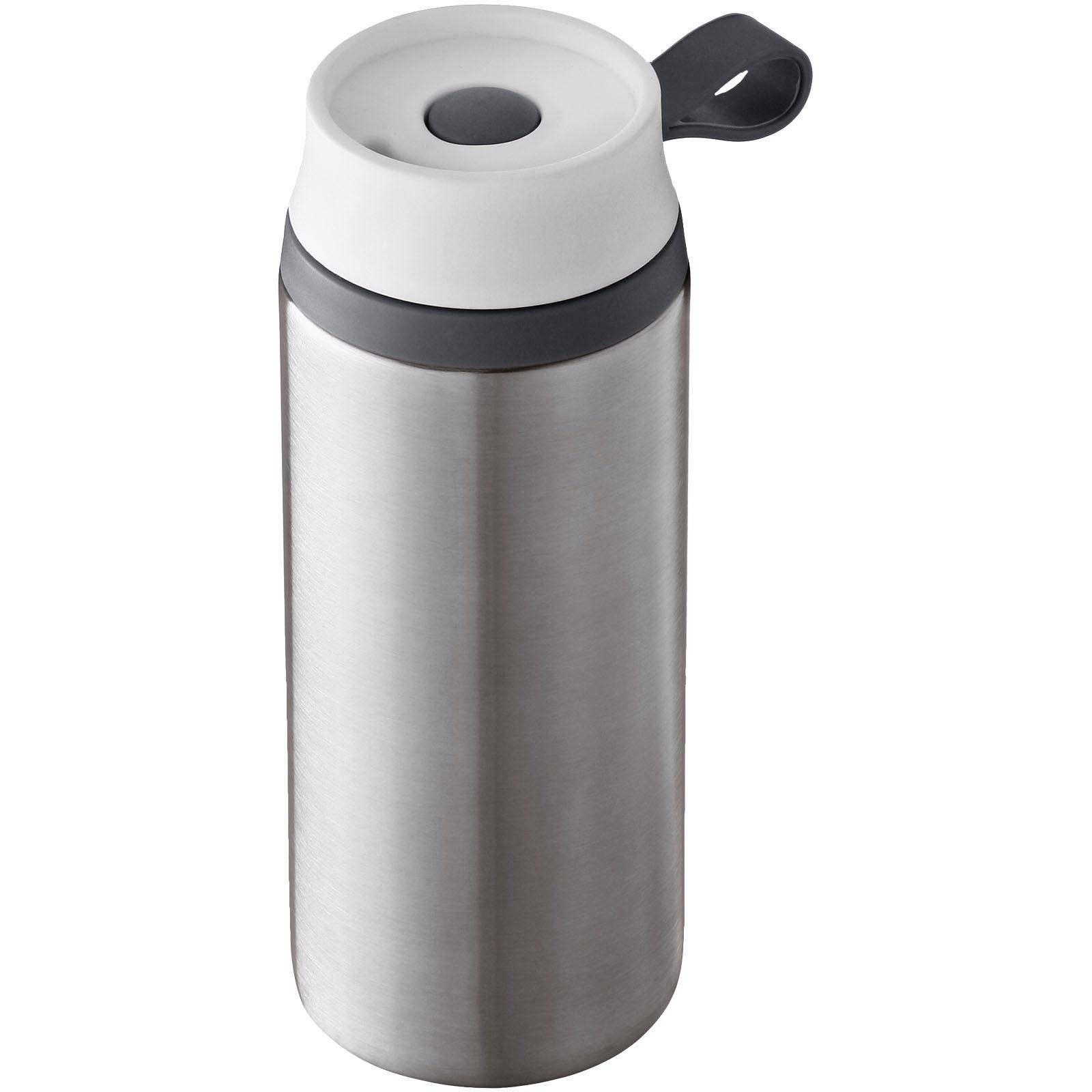 """Vaso isotérmico anti fugas con aislamiento de espuma """"Flow"""" - Plateado"""