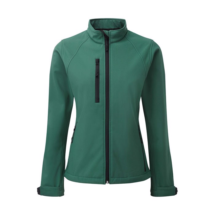 Ladies Softshell 340 g/m2 Soft Shell Jacket R-140M-0 - Bottle Green / M