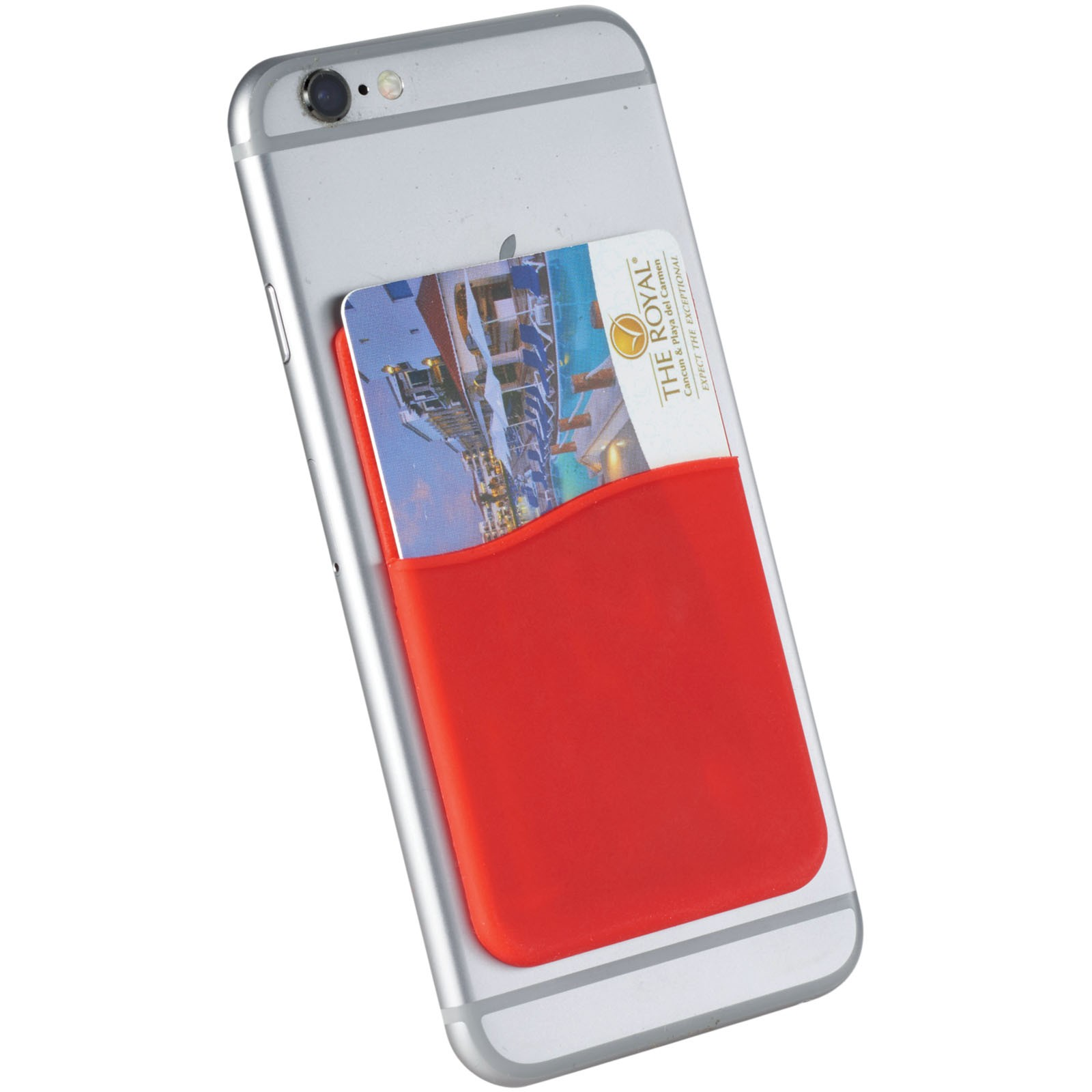 Slim card wallet accessory for smartphones - Red